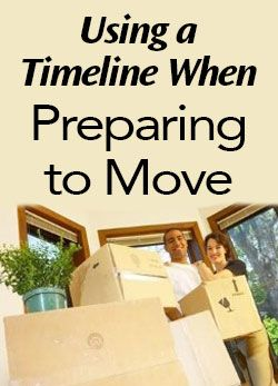 Using a Timeline When Preparing to Move