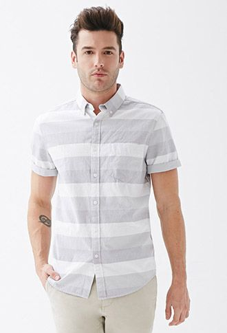 Striped Oxford Shirt | 21 MEN | #f21men