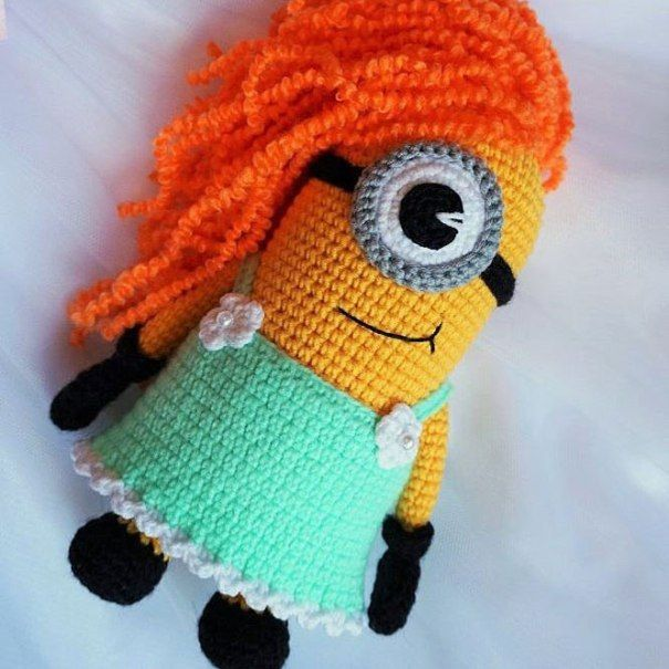 Minion girl free amigurumi pattern