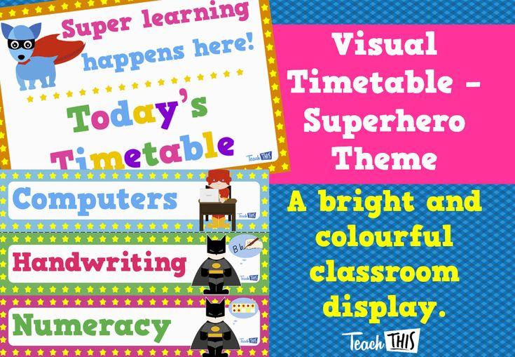 Visual Timetable - Superheroes