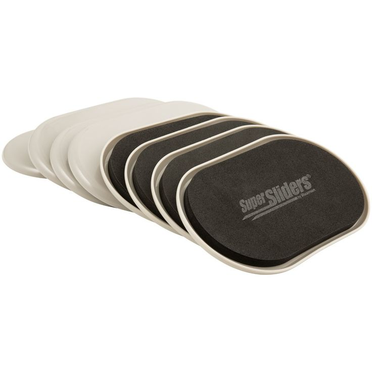 SuperSliders 4704295N Reusable Furniture Movers For Heavy Furniture For Carpeted Surfaces (8 Pack) - Oval 3-1/2 inch x 6 inch