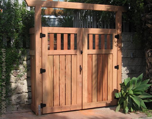 15 DIY How To Make Your Backyard Awesome Ideas 5. Wooden Garden GateWood  Fence ...