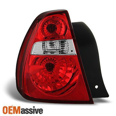 04-07 Malibu 2008 Malibu Classic Red Clear Tail Light Tail lamp Driver Left Side