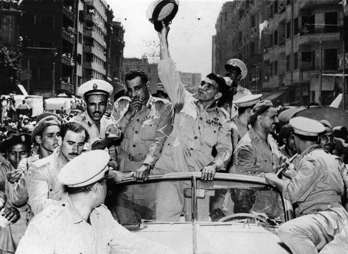 July 23,  1952: EGYPTIAN MILITARY    -  OVERTHROWS KING FAROUK I Egyptian military officers led by Gamal Abdel Nasser overthrow King Farouk I.