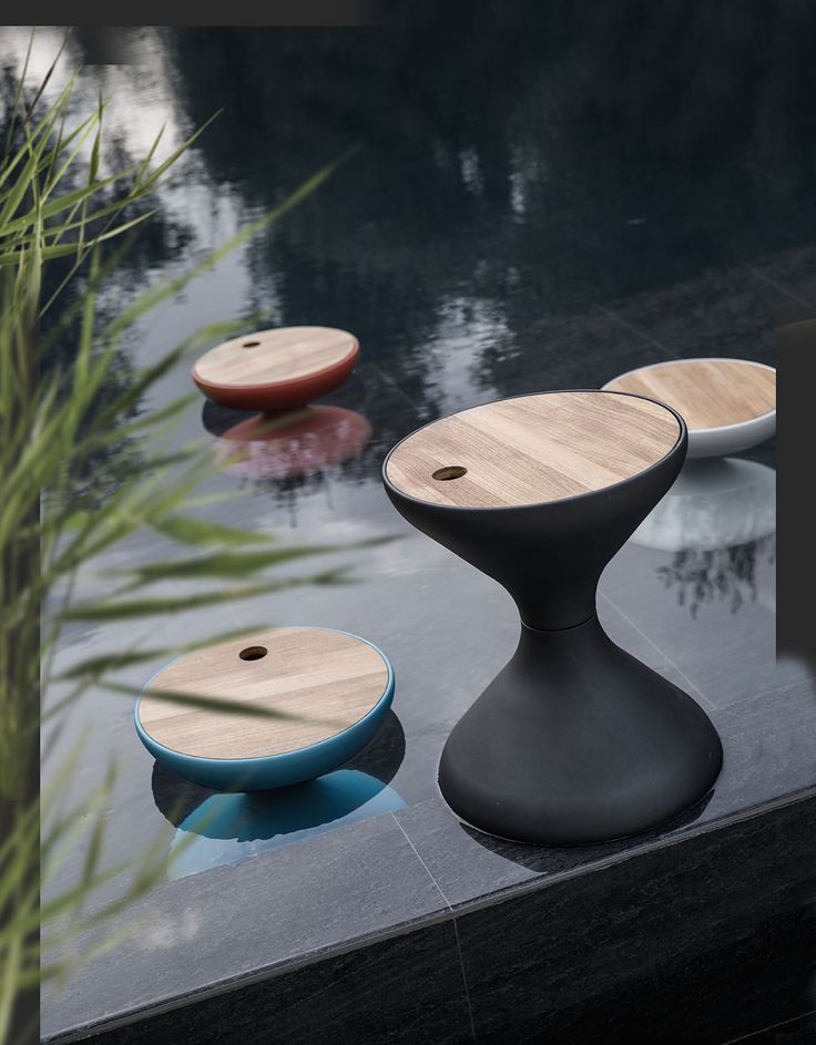 Bells side table and ice bucket - Gloster