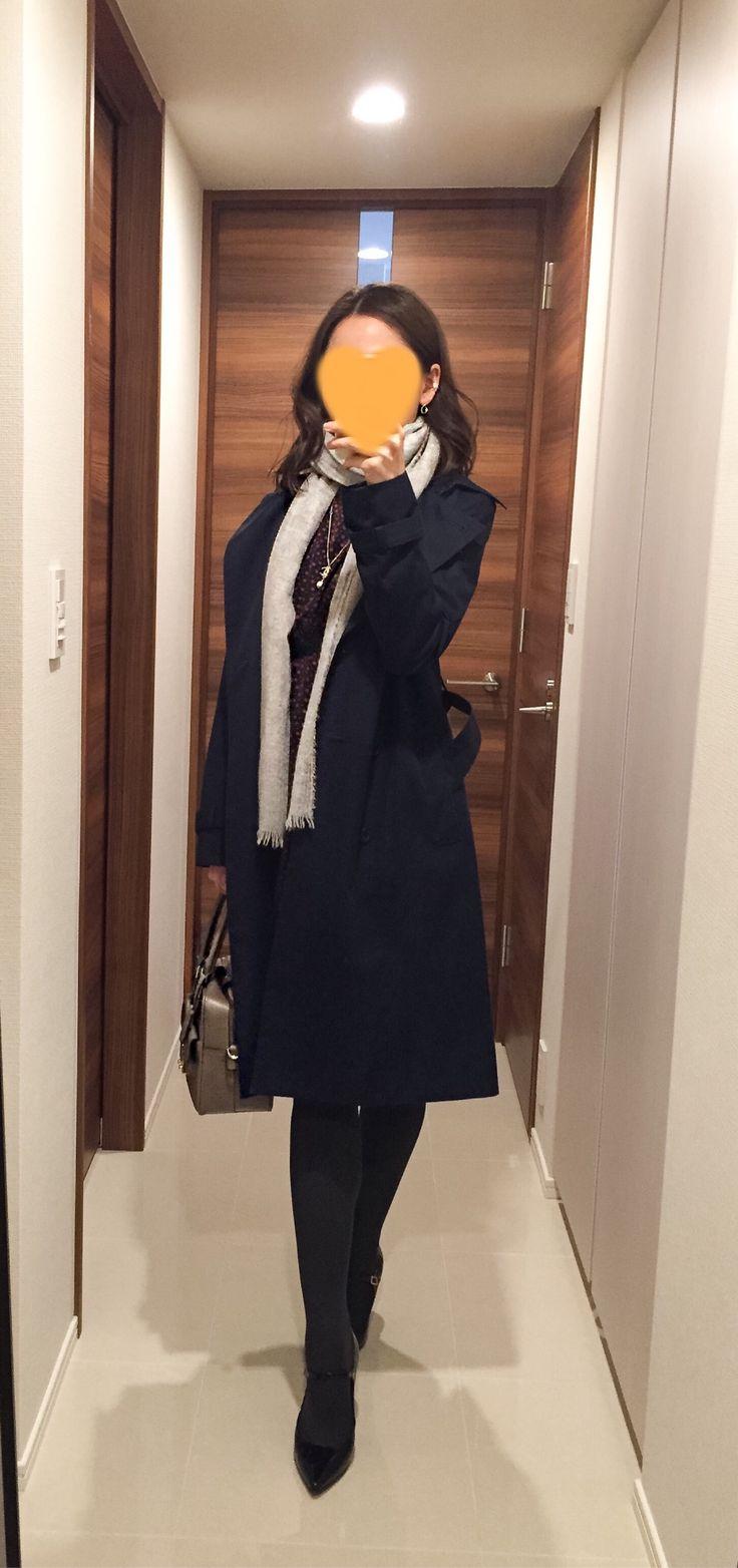 Navy trench coat: ANAYI