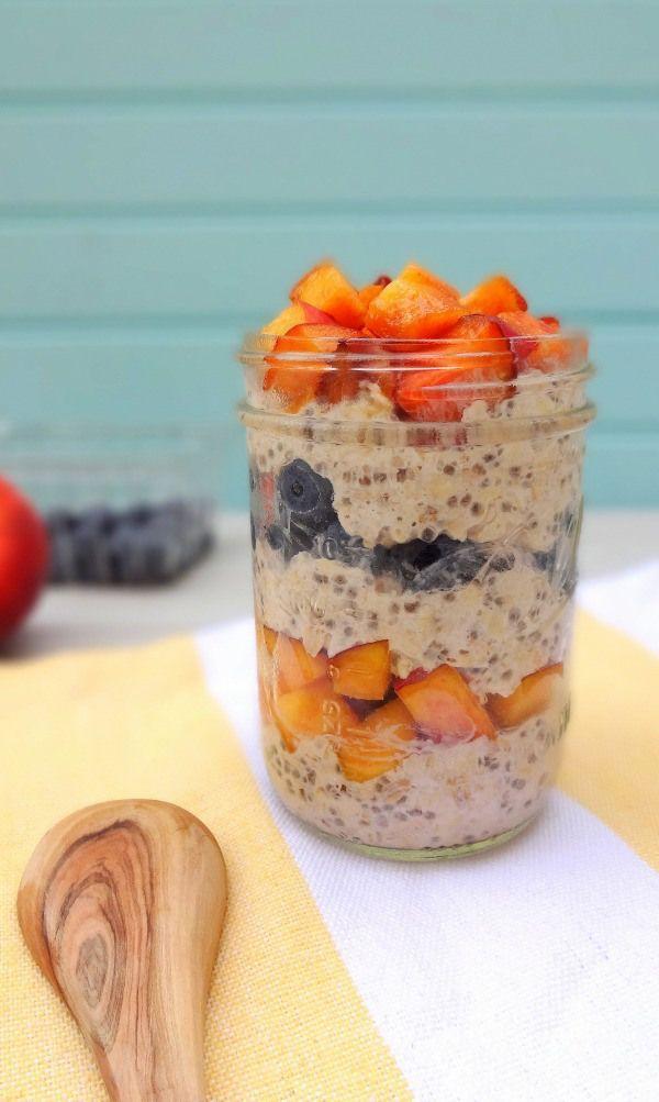 A healthy on-the-go breakfast in a jar (high raw, vegan).