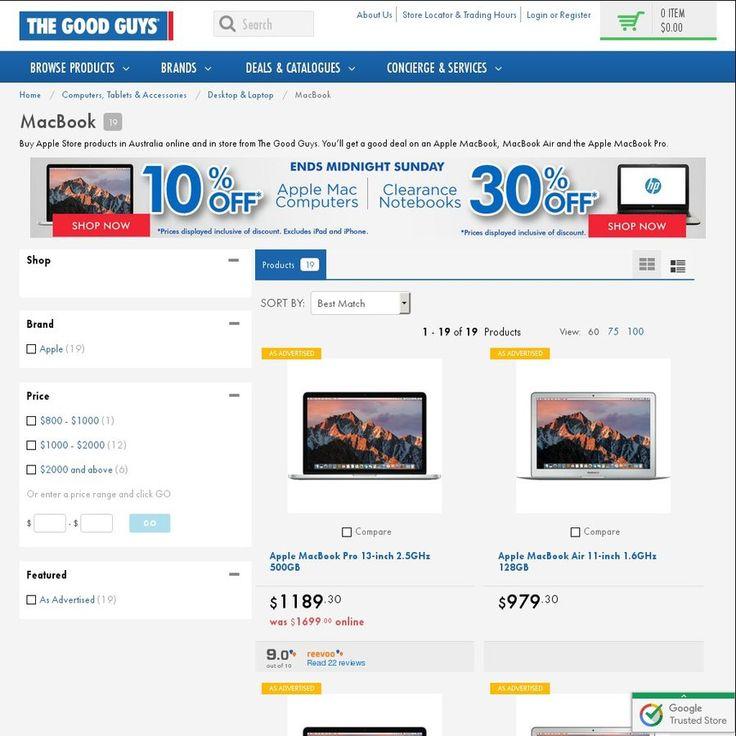 """Runout Apple MacBook Sale - 11"""" Air from $979.30 l 13"""" Retina Pro from $1399 l 15"""" Retina Pro from $2169.30 @ The Good Guys"""