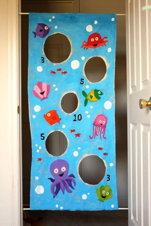 Doorway bean bag toss.