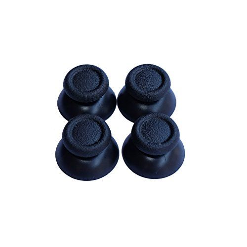Laudkree Replacement Thumbstick Analog Thumb Stick for Sony PlaySation 4 Controller - Black Pack of 2 Pairs)