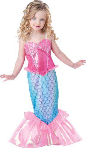 InCharacter Baby Girl's Mermaid, Pink/Turquoise, 2T