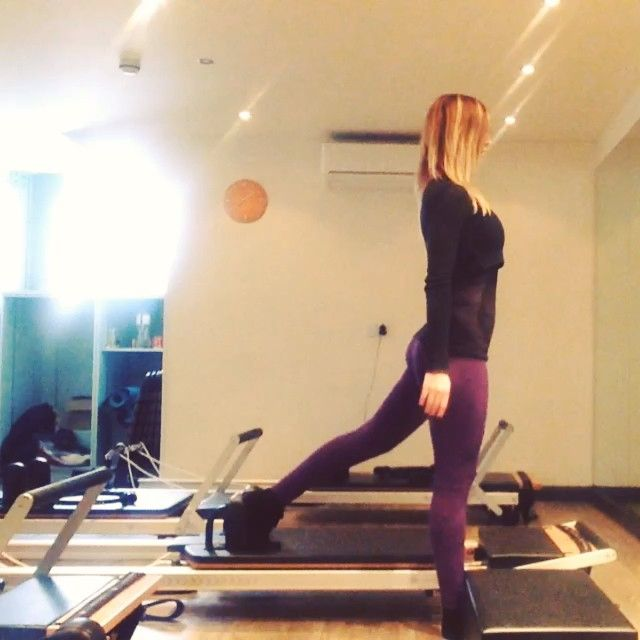 """""""The flying plank into push up. A great way to build up the heart rate as well as toning the entire body ⭐️⭐️⭐️ #powerpilatesuk #Pilates #reformerpilates…"""""""