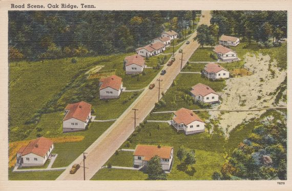 Road Scene Oak Ridge Tennessee Vintage by postcardsofthepast