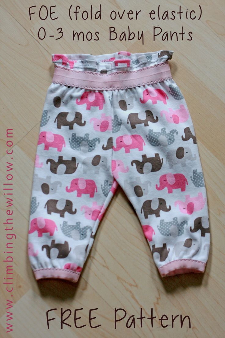 Baby Shower free baby pants pattern - Gracious Threads