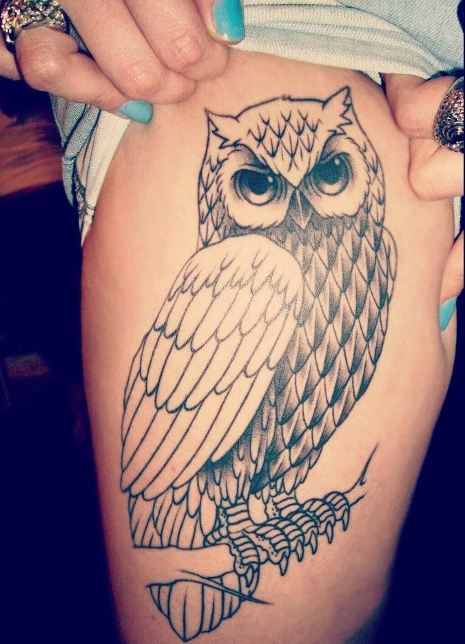 Owl tattoo idea but I would add some color