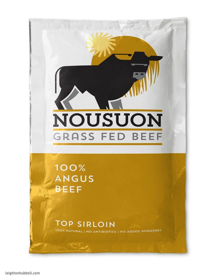 Nousuon Grass Fed Beef Packaging on Behance