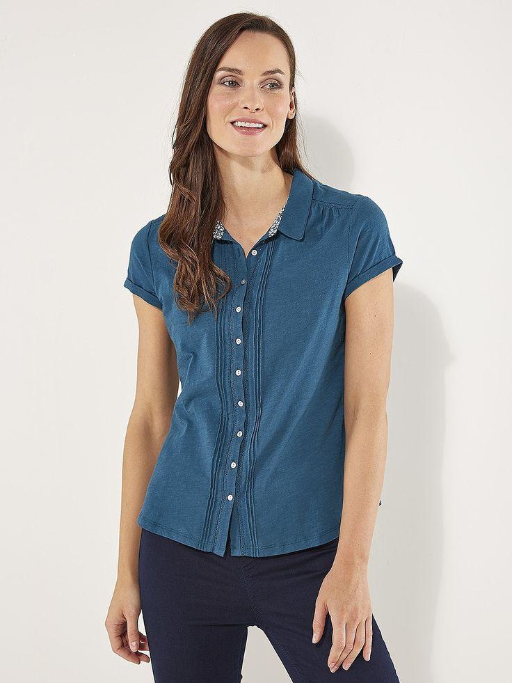 Womens petrol blue ss saskia shirt from White Stuff - £32.50 at ClothingByColour.com