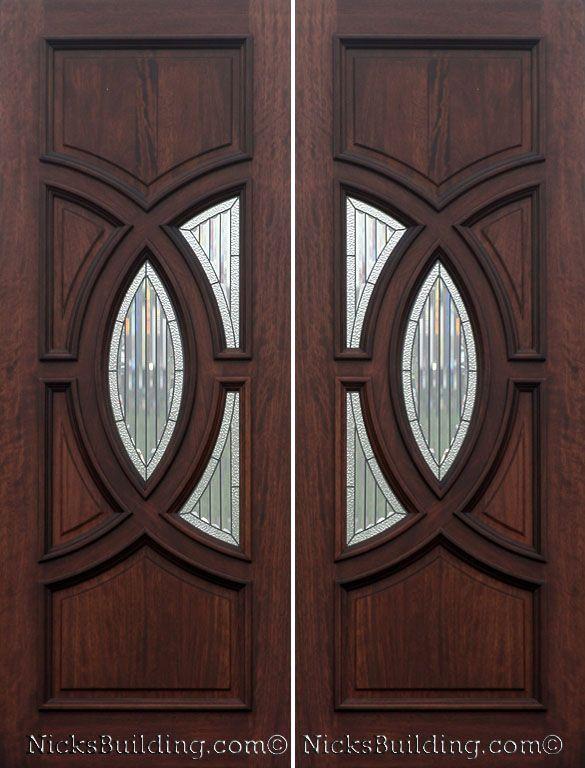 Fancy Front Doors : Front door wood exterior double olympus