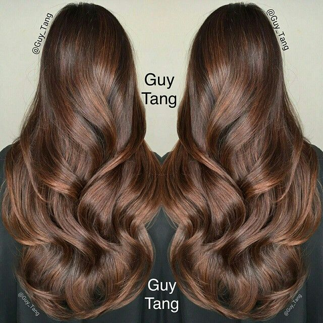 Rich chocolate balayage ombre