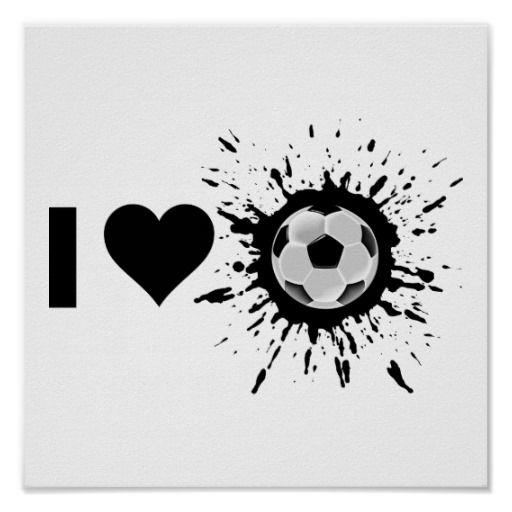 Explosive I Love Soccer Poster from Zazzle.