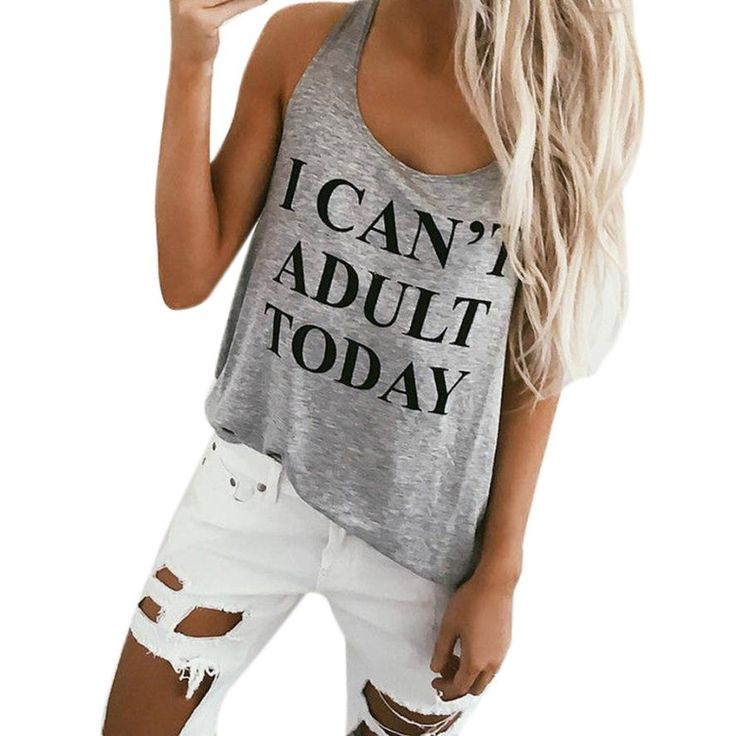 I CAN'T ADULT TODAY Women's Tank //Price: $14.99 & FREE Shipping //     #motivation #sexy #urbanpinup