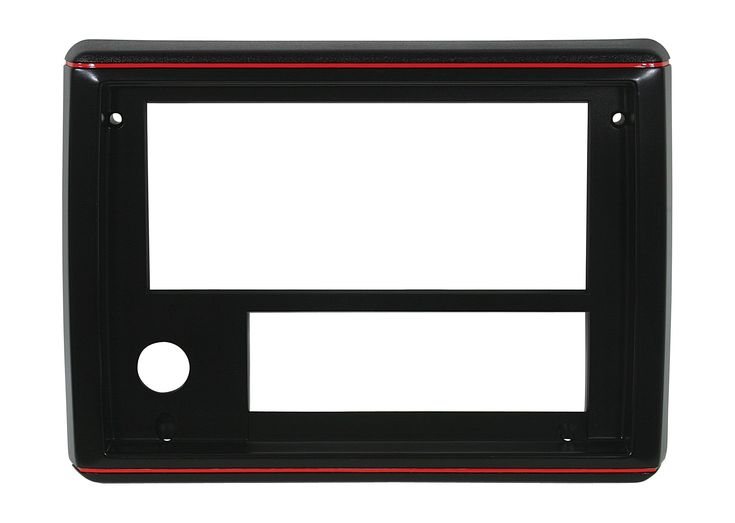 RADIO FACE PLATES 86-87, Sport Black with Red Trim