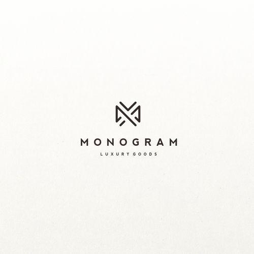 Monogram logo for retail luxury goods: