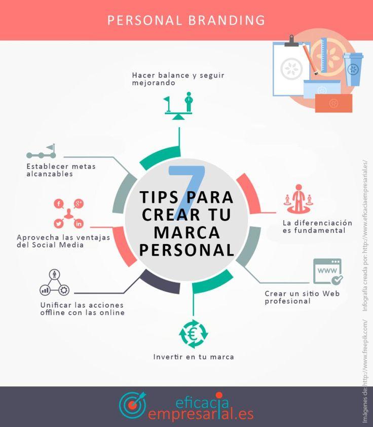 7 consejos para crear tu Marca Personal #infografia #infographic #marketing