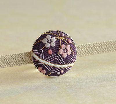 帯留「 毬 ~梅~ 」(三分紐用) - 和こもの花影抄