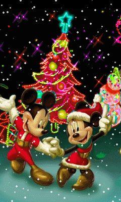 FrasesparatuMuro.com: Navidad animada micki y minie