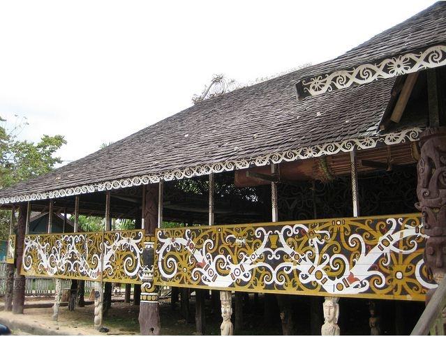 Rumah panjang, suku daya - kalimantan #PINdonesia