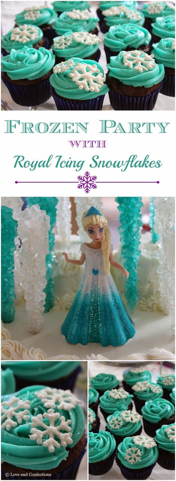 Love and Confections: Frozen Party and Royal Icing Snowflakes Tutorial