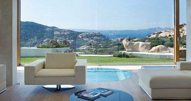 Villa Sa Contissa  Smeralda Coast Sardinia Italy    In walking distance to the Smeralda Coast, a contemporary, luxurious and light filled house designed around a stunning pool.