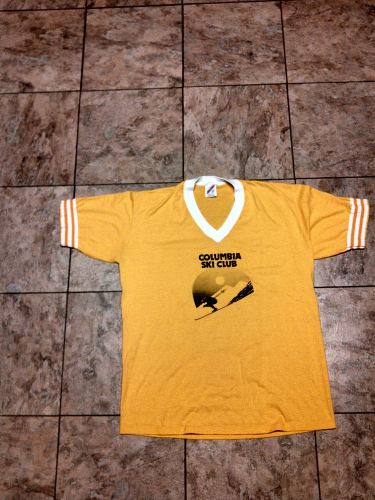 Vintage Columbia Ski Club T Shirt 70s Retro Indie