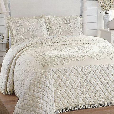 Josephine Bedspread in Ivory  first choice but I think the cat would destroy it