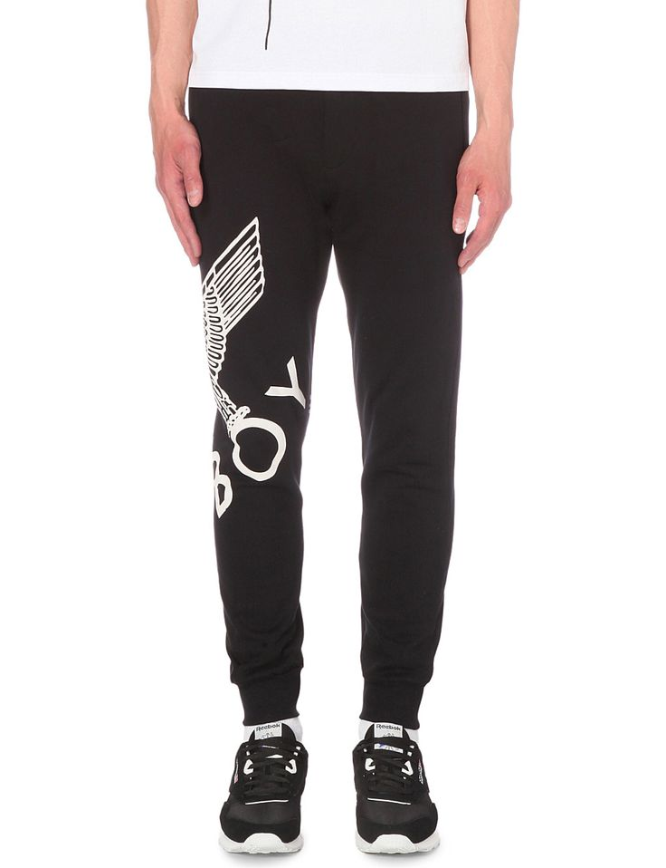 BOY LONDON - Eagle print cotton-jersey track pants | Selfridges.com