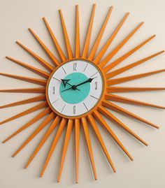Image result for mid-century modern wall clock