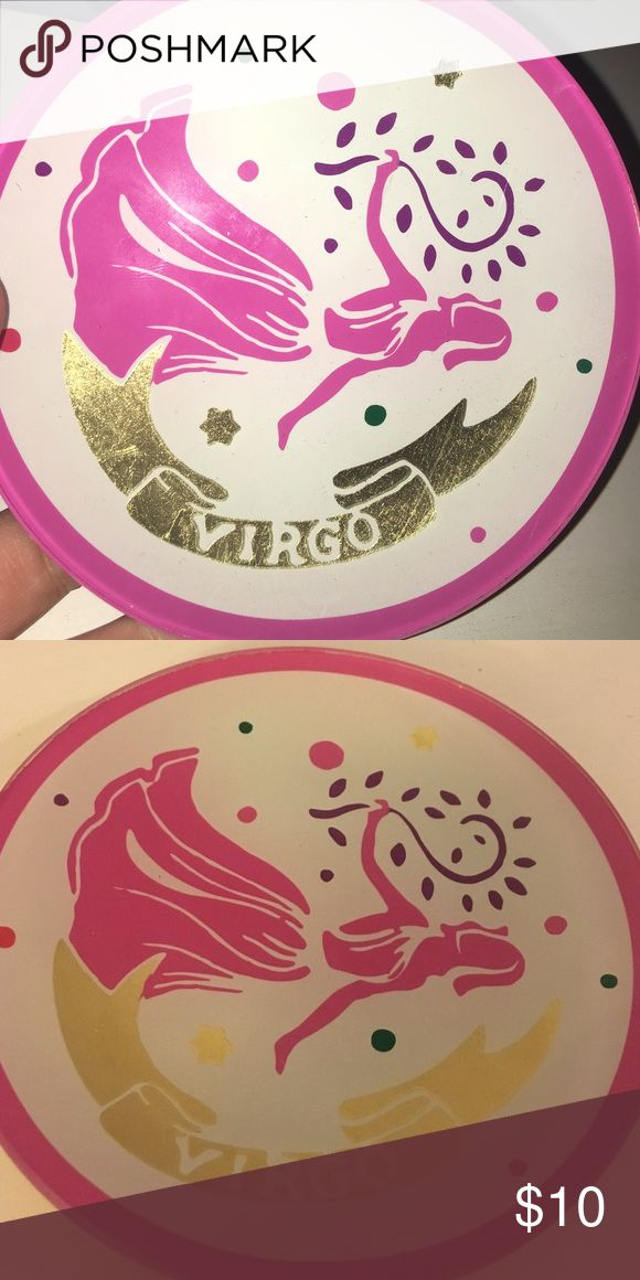 Virgo jewelry dish / soap dish Pink and gold Virgo dish. Can we used for jewelry, hair ties, or even as a soap dish. Never used C.wonder Accessories Key & Card Holders
