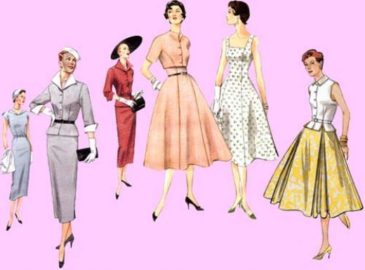 women's clothing 1950s | Guide To Buying Vintage 1950's Women's Dresses