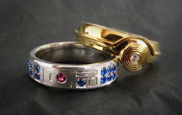anillos de compromiso geek  r2-d2 c3-po