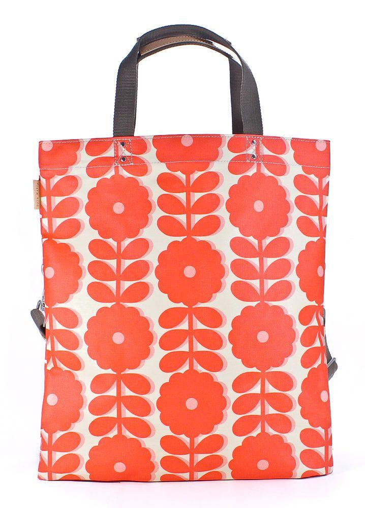 Orla Kiely Matt Laminated Cut Out Wildflower Print Poppy Book Bag Shopper New #OrlaKiely #TotesShoppers