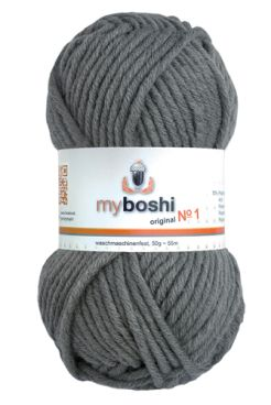 myboshi No.1 194 titangrau 70% Polyacryl und 30% Schurwolle (Merino) 3,75 €