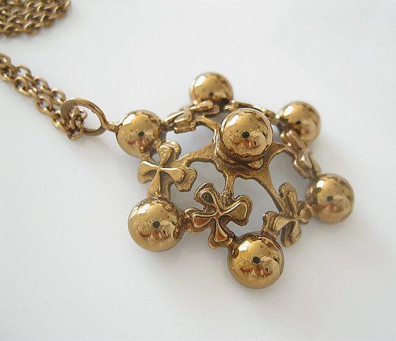 Under $100 |  #forsale > Kalevi Sara, vintage bronze necklace, 1970s. #finland | finlandjewelry.com