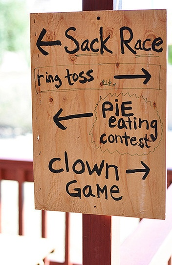 County fair party - a sign kind of like this in the foyer...easy & easily decorated!