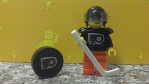 Lego NHL Custom Philadelphia Flyers Hockey Minifigure Stick and Puck | eBay