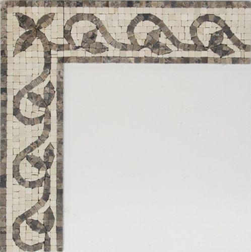 scrolling vine roman mosaic handmade border tile | border tiles, Hause deko