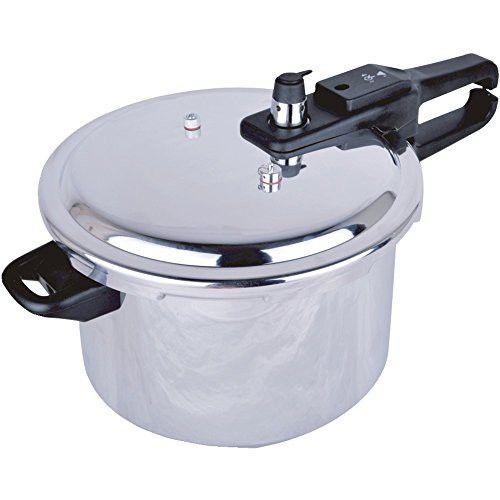 1 - Aluminum Pressure Cooker (5.5-Liter), Durable aluminum body, 3 safety valves, Additional safety valve lock