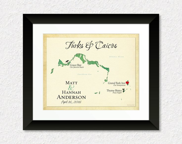Map of Turks and Caicos, Grand Turk Map Art, Unique Anniversary Gift, Personalized Wedding Present, Gift for Spouse, Destination Wedding, Custom Map Art Canvas by KeepsakeMaps on Etsy