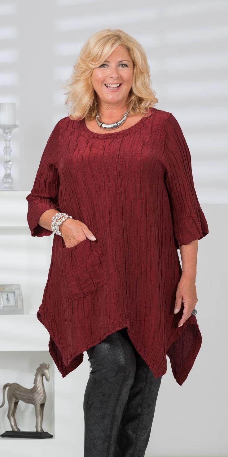 Grizas red silk/linen pocket top