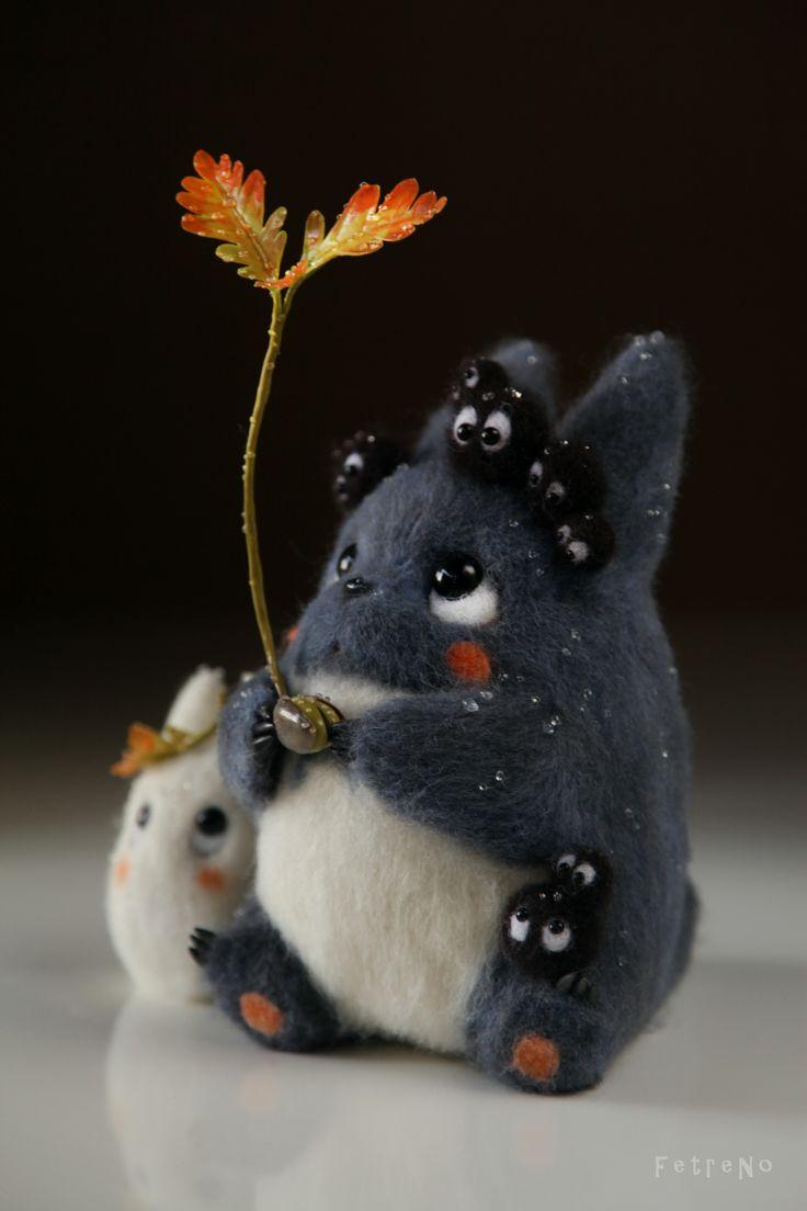 Totoro needle felt.